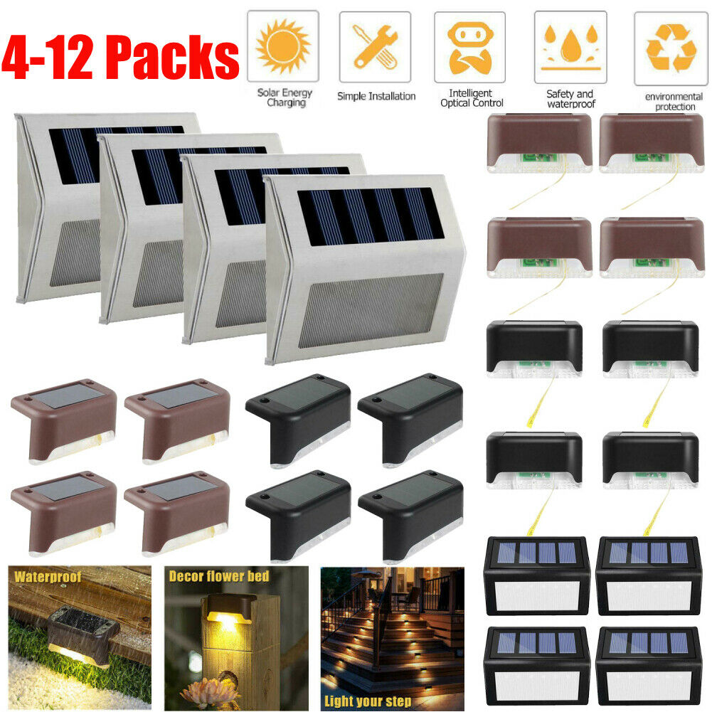 Solar Powered LED Deck Light Outdoor Path Garden Stairs Step