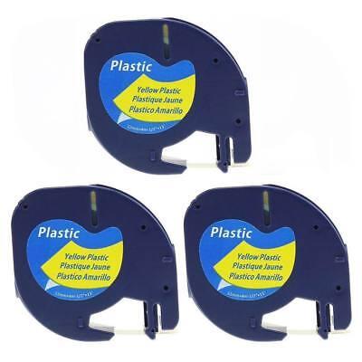 3pk Compatible 91202 Dymo Letratag Refill 59422 Lt-100 Lt-100t Label Tape