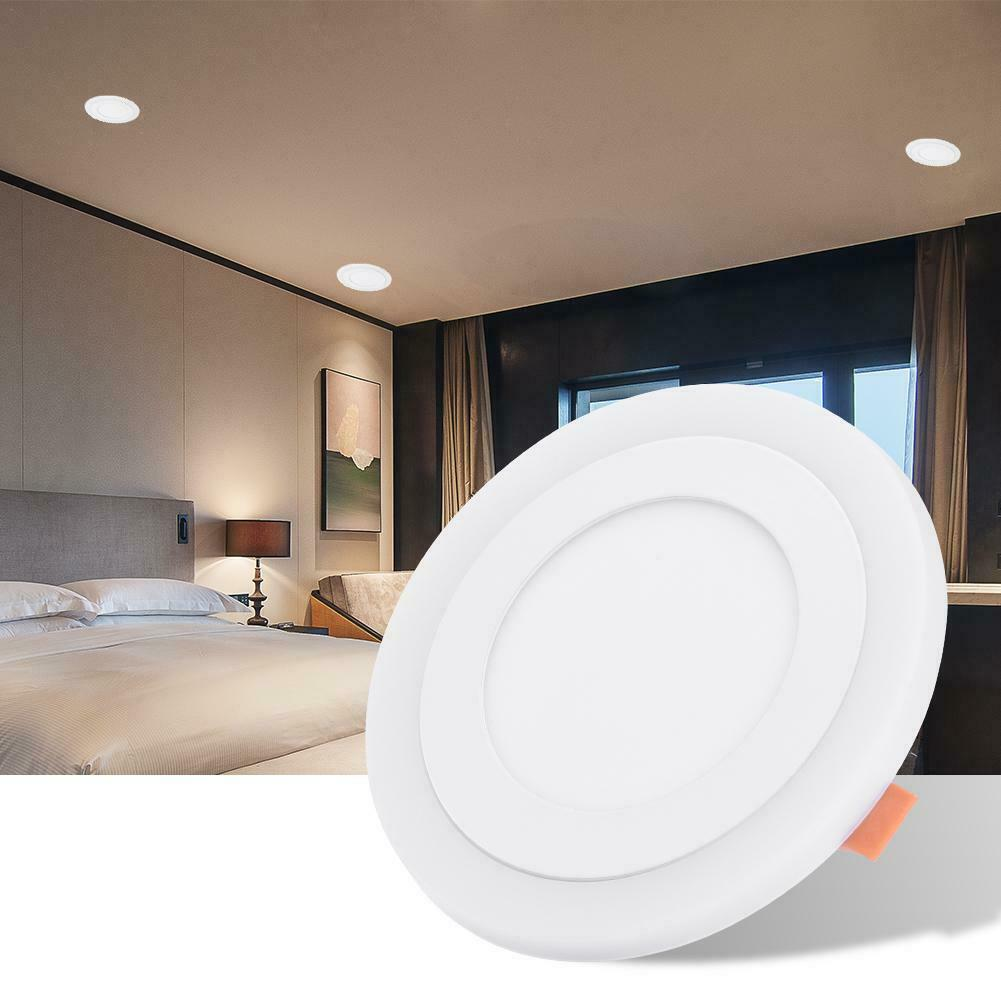 Two-Color LED Panel Light Recessed Kitchen Bathroom Ceiling