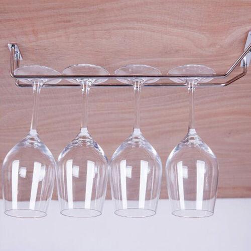 Design Weinglashalter Gläserschiene Deckenmontage Bar-Glashalter Stahl verchromt