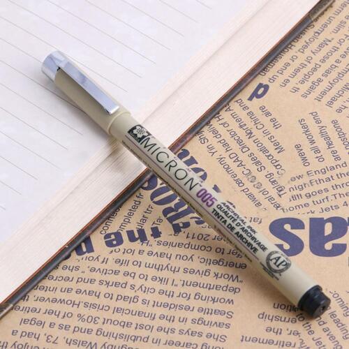 8 Stk Sakura Pigma Micron Stifte Pigment Zeichnung kuli Fine Fineliner 0.05-1mm