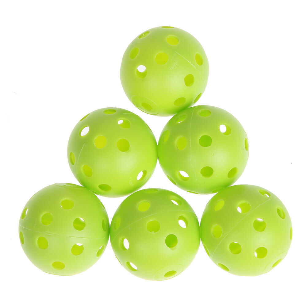 US 50pcs Golf Practice Balls Plastic Whiffle Airflow Hollow