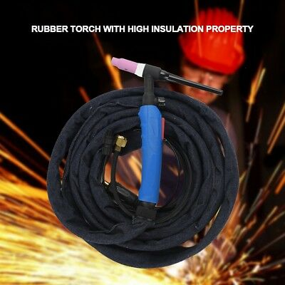 - 12ft 220Amp WP-17FV-12 Air-Cooled TIG Welding Torch Flexible Gas Valve Head