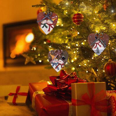 Metal Snowman Christmas Ornaments Set of 3, Decorative Hanging Xmas Tree Ornamen