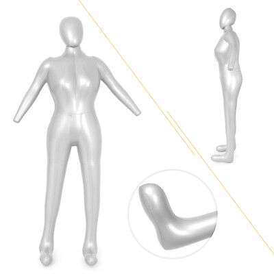 Pvc Silver Full Body Woman Female Inflatable Mannequin Dummy Torso Display Model