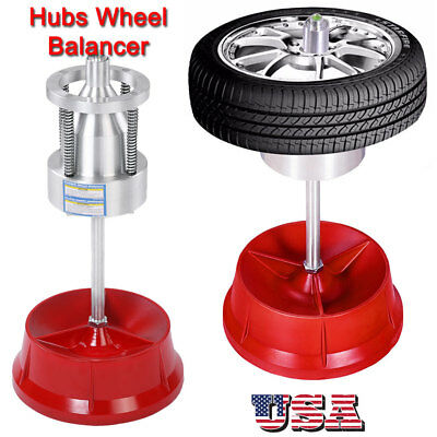 Portable Hubs Wheel Balancer W/ Bubble Level Heavy Duty Rim Tire Cars Truck
