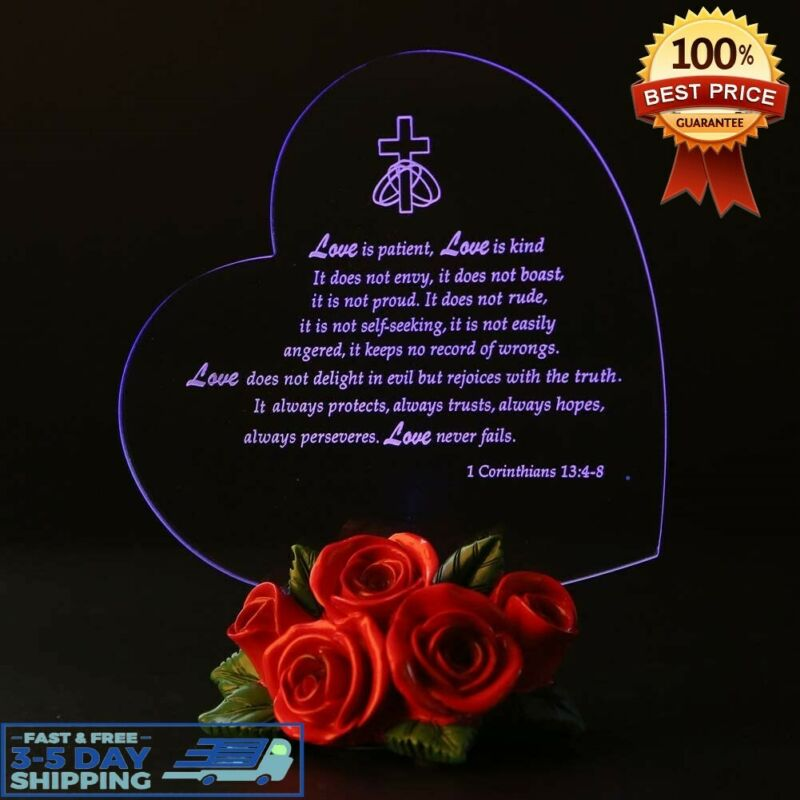 LED Light Gift For Wife Girlfriend Anniversary Him Her Mom L