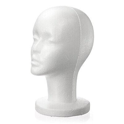 Fashion White Female Foam Mannequin Head Model Hat Cap Wig Glasses Display Stand