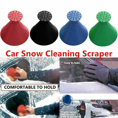 Magical Car Windshield Ice Snow Remover Scraper Tool Cone Shaped Round -