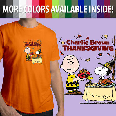 Thanksgiving Peanuts (Charlie Brown Snoopy Thanksgiving Classic Peanuts Unisex Mens Tee Crew)