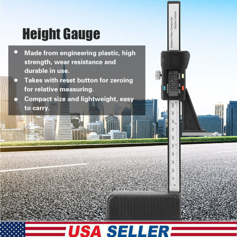 Digital Electronic Height Gauge Gage Caliper Carbide Scribe 0-150mm/0-6""