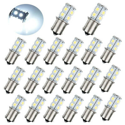 20Pc DC12V 1156 1003 1141 13 SMD Interior RV Camper White LED Tail Backup Bulb 1156 Led 12v Bulb