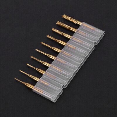 10pcs 0.8mm-3.17mm Pcb Drill Bit Engraving Cutter Rotary Cnc Bit End Mill Set