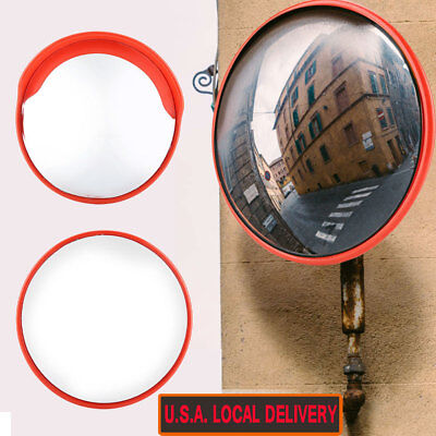 3045cm Outdoor Road Traffic Convex Mirror Wide Angle Driveway Safety Security