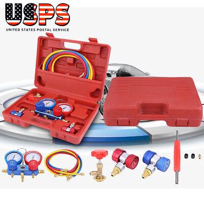 R134a Hvac Ac Refrigeration Kit Ac Manifold Gauge Set Auto Serivice Kit Tools