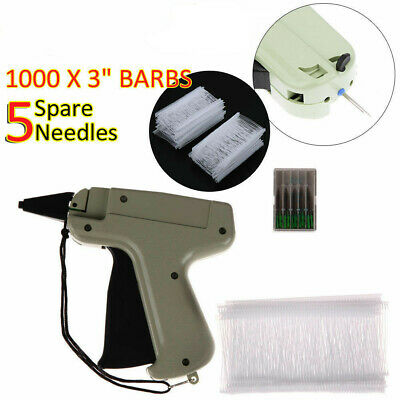 Clothing Tagging Tag Gun 1000 Tag Barbs 5 Needles Garment Price Label Clothes