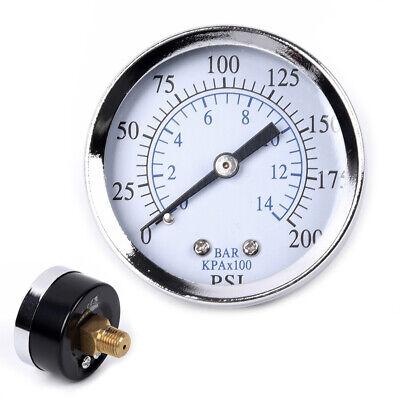 2 Inches 0-200psi Metal Air Oil Water Pressure Gauge 14 Npt Thread Back Mount