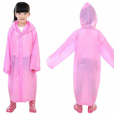 Unisex Hooded Jacket Rain Poncho Raincoat Cover Long Rainwea