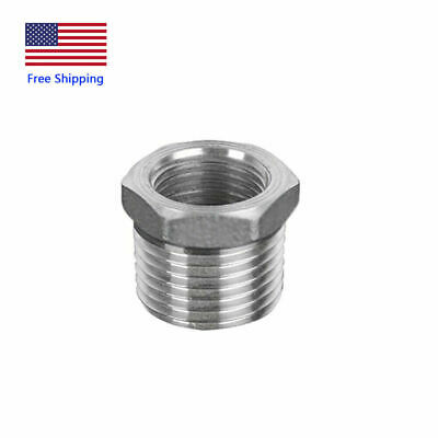 Stainless Steel Reducer Hex Bushing 1male X12female Npt Reducing Pipe Fitting