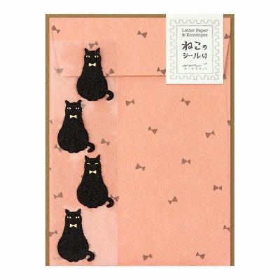 Letter Writing Set - Midori Cat Letter Writing Set 12 Letter paper 4 Envelope S-4365