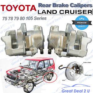 2 Rear Disc Brake Calipers Toyota Landcruiser 75 78 79 80 105 Series 1990-2012
