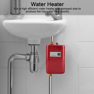 3000W 110V Tankless Instant Electric Hot Water Heater Kitchen Bathroom Shower
