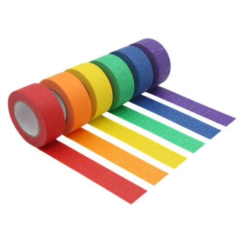 6Pcs/Set Colored Painters Masking Tape Adhesive for Arts and