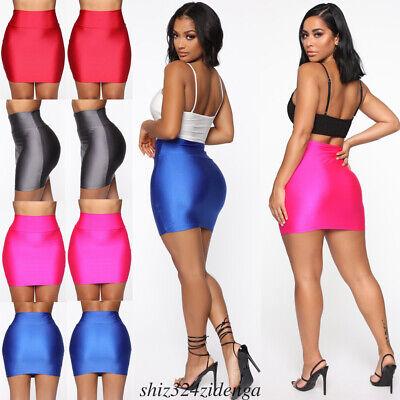 Women Seamless Stretch Tight Sexy Bodycon Mini Skirt Short Pencil Dress HOT