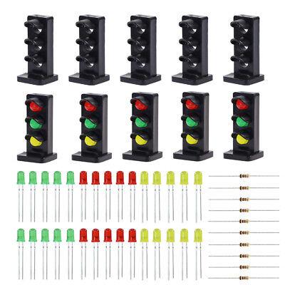 JTD26 10 Stk. Signale LED rot/gelb/grün DIY Dwarf Zwergsignale Spur 1/ 0 NEU