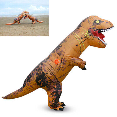 T Rex Halloween Costume (1.8M Inflatable T-REX Dinosaur Costume Fancy Halloween Suit Blowup Dress)