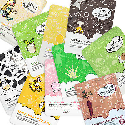 Esfolio Pure Skin Essence Mask 25ml 10 Types 5pcs Korean Cosmetics Best