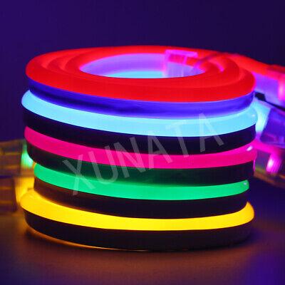Strip Led Leuchte (1-100m RGB 2835 Neon LED Strip Streifen Leuchte Flexibel diffus 220V Dimmbar Dec)