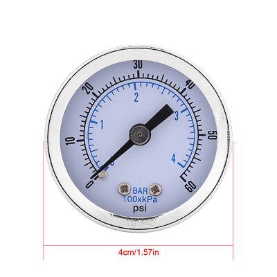 0-60psi 0-4bar 18bspt Pressure Gauge Manometer For Water Air Oil Small