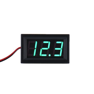 4.5-30v Dc Two-wire 0.56 Red Green Blue Panel Mount Digital Voltage Voltmeter