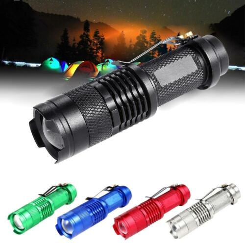 3500LM Zoomable Q5 LED Flashlight Torch Bright Light 3 Modes Lamp Black PT
