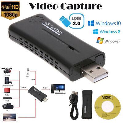 - HD 1080P USB 2.0 HDMI Monitor Video Capture Converter Card Adapter w/ Driver CD