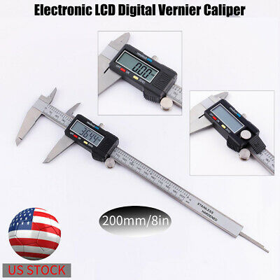 200mm8in Electronic Lcd Micrometer Digital Vernier Caliper Depth Measurement