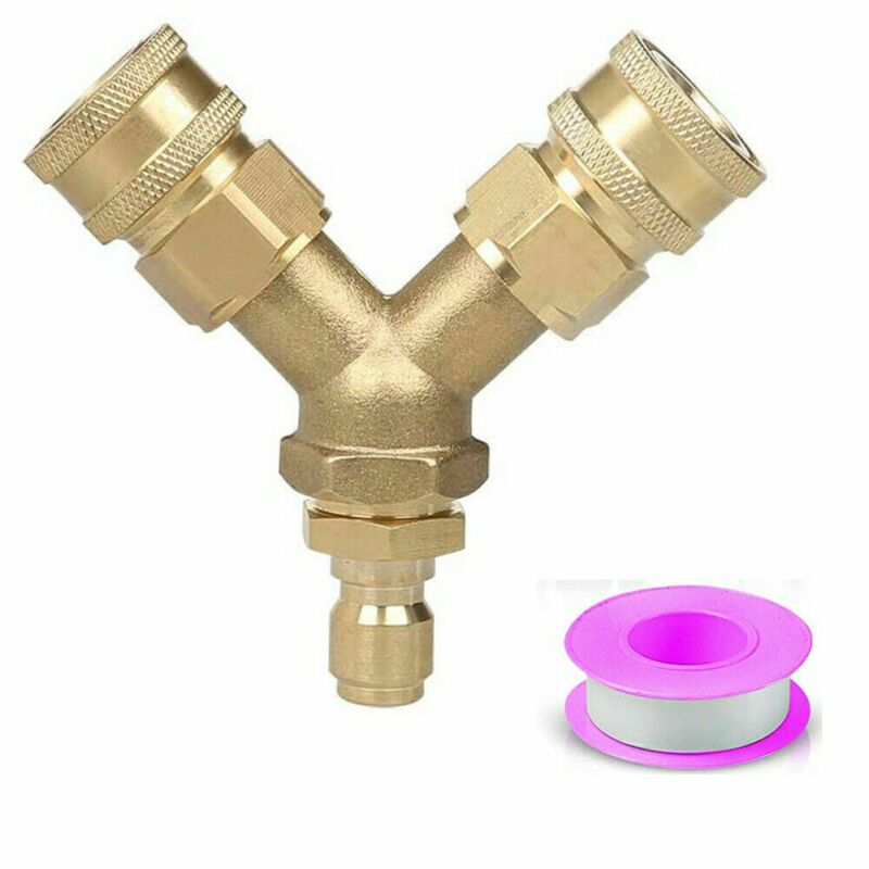 Pressure Washer Splitter Coupler, 3/8 Inch Fitting Quick Connect