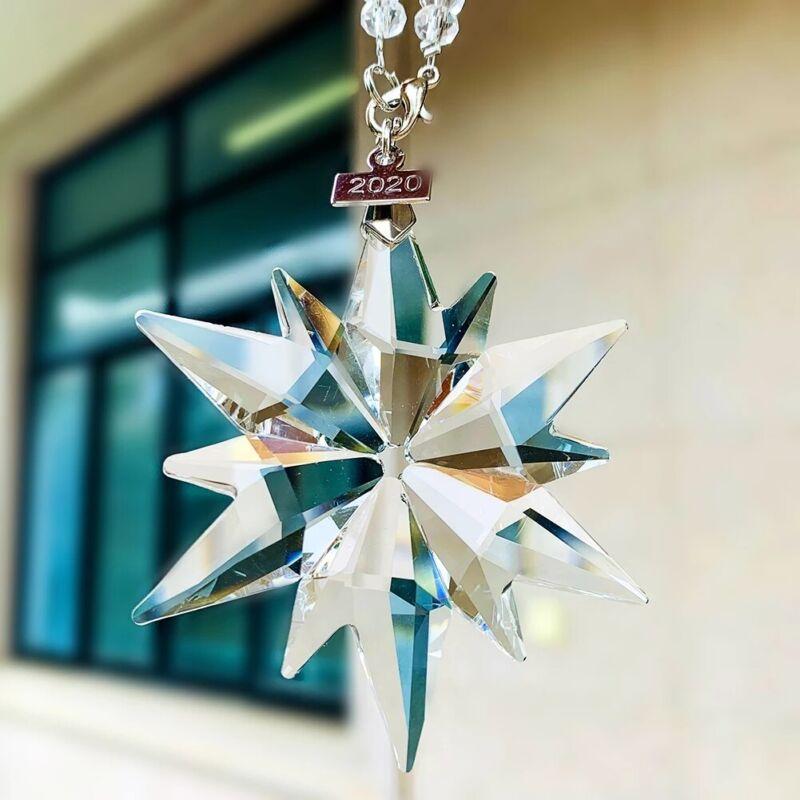 Suncatcher Clear Fengshui Snowflake Car Hanging Chandelier Pendant Crystal Decor
