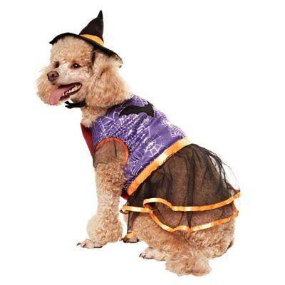 MARTHA STEWART PET DOG HALLOWEEN WITCH COSTUME DRESS - Martha Stewart Kostüm