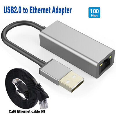 USB 2.0 to Ethernet RJ45 Network Adapter 100/10 Mbps Internet connecter
