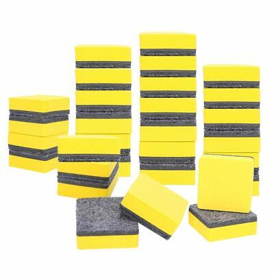 Magnetic Whiteboard Dry Erasers Chalkboard Cleansers 2 X 2 Inch Yellow 30 Pack