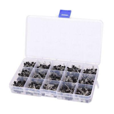 600pcs 15 Value To-92 Transistor Assortment Npn Pnp Kit