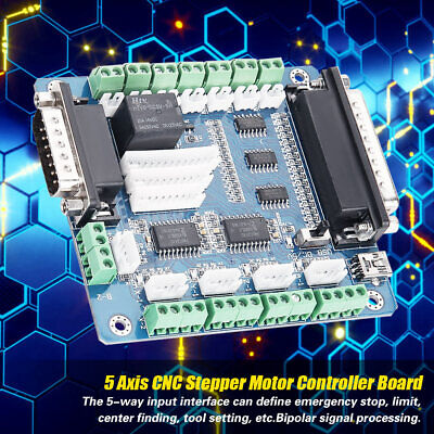 5-axis Stepper Motor Driver Interface Breakout Board Controller Cnc Mach3