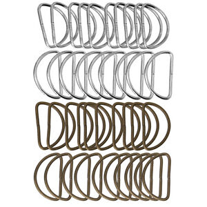 20pcs-for-Straps-Bags-Purses-Belting-Metal-Belts-Buckle-Loop-Ring-D-Ring-NEW