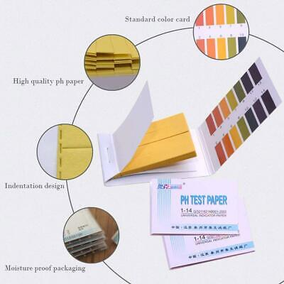 80pcspack Ph 1-14 Universal Full Range Litmus Test Paper Strip Tester Indicator