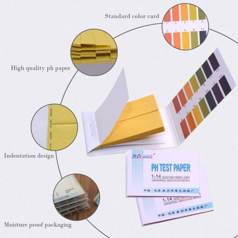 80Pcs/Pack pH 1-14 Universal Full Range Litmus Test Paper Strip Tester Indicator