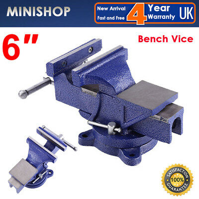 "6"" 152MM Heavy Duty Work Bench Vice Engineer Jaw Swivel Base Workshop Vise Clamp"