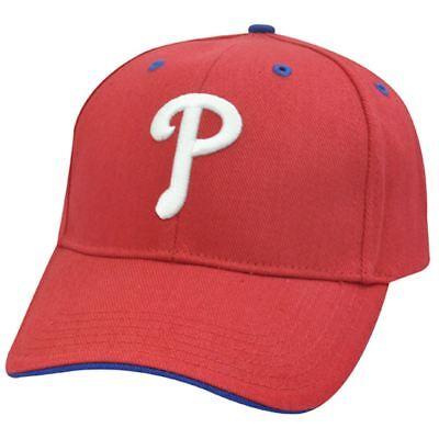MLB Philadelphia Phillies 3D Baseball Hat Cap Red White Blue License Constructed