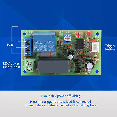 Ac 220v Trigger Delay Switch Turn On Off Board Timer Relay Module Plc Adjustable
